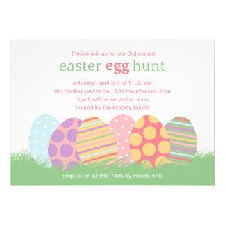 Invitación del fiesta de Pascua de los huevos de P