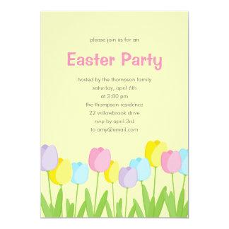Invitación del fiesta de Pascua de los tulipanes