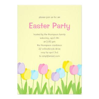 Invitación del fiesta de Pascua de los tulipanes d
