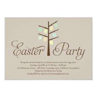 Invitación del fiesta de Pascua del árbol de