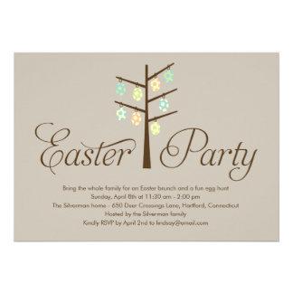 Invitación del fiesta de Pascua del árbol de Pascu