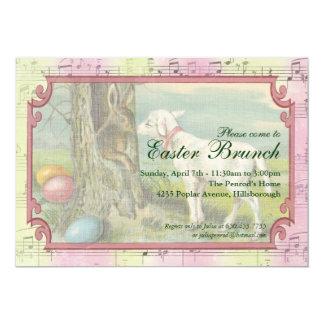 Invitación del fiesta de Pascua del vintage