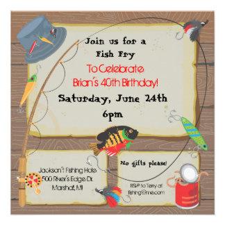 Invitación del fiesta de pesca