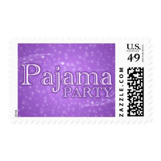 invitación del fiesta de pijama: starshine sellos