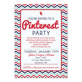 Invitación del fiesta de Pinterest