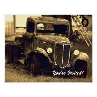 Invitación del fiesta de retiro - camión de la
