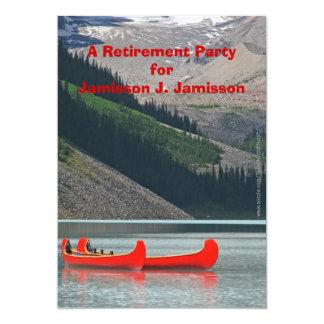 Invitación del fiesta de retiro, canoas de la invitación 12,7 x 17,8 cm