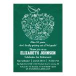 Invitación del fiesta de retiro de Apple de los Invitación 12,7 X 17,8 Cm