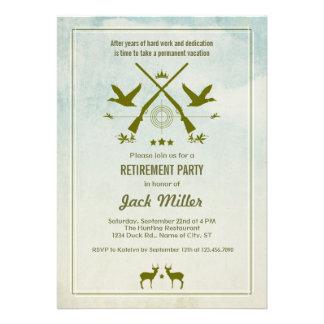 Invitación del fiesta de retiro de la caza