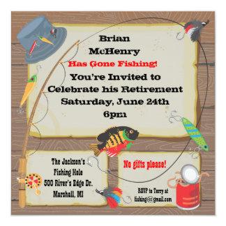 Invitación del fiesta de retiro de la pesca invitación 13,3 cm x 13,3cm