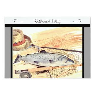Invitación del fiesta de retiro de la pesca con invitación 12,7 x 17,8 cm