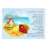 Invitación del fiesta de retiro de la playa