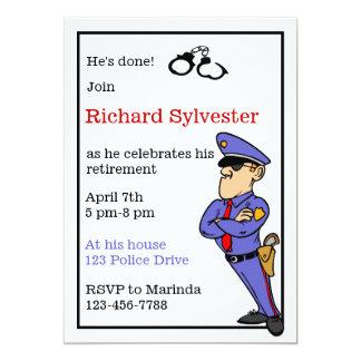 Invitación del fiesta de retiro de la policía