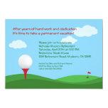 Invitación del fiesta de retiro del golf invitación 12,7 x 17,8 cm