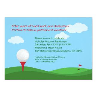 Invitación del fiesta de retiro del golf