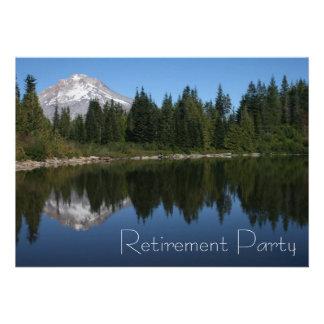 Invitación del fiesta de retiro del lago mountain
