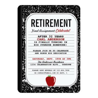Invitación del fiesta de retiro del libro de la