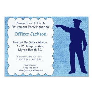 Invitación del fiesta de retiro del oficial de