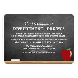 Invitación del fiesta de retiro del profesor invitación 12,7 x 17,8 cm