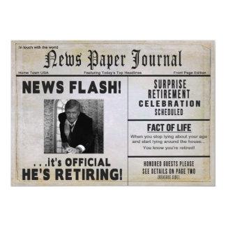Invitación del fiesta de retiro - noticias del