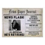 Invitación del fiesta de retiro - noticias del PAR