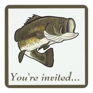 Invitación del fiesta de retiro: Perca americana Invitación 13,3 Cm X 13,3cm