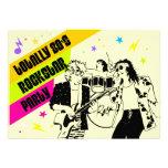 invitación del fiesta de Rockstar de los años 80
