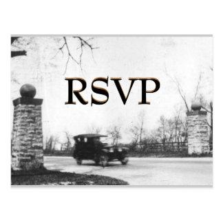 Invitación del fiesta de RSVP de los años 20 del r Tarjeta Postal
