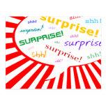 invitación del fiesta de sorpresa: burbuja cómica tarjeta postal