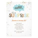 Invitación del fiesta de sorpresa de la ducha del
