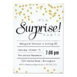 Invitación del fiesta de sorpresa del confeti
