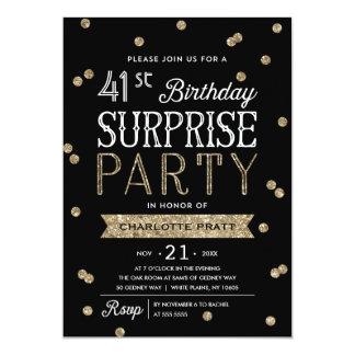 Invitación del fiesta de sorpresa del confeti del