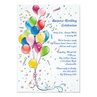 Invitación del fiesta de sorpresa del ramo del