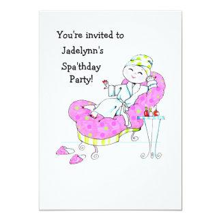 Invitación del fiesta de Spa'thday Invitación 12,7 X 17,8 Cm