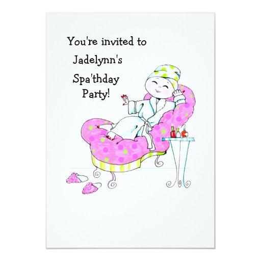 Invitación del fiesta de Spa'thday