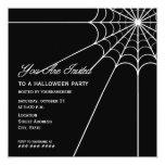Invitación del fiesta de Spiderweb Halloween