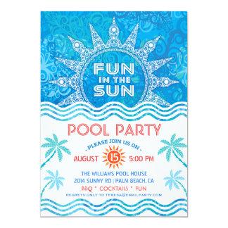 Invitación del fiesta de Sun del verano