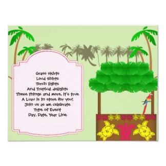 Invitación del fiesta de Tiki Luau