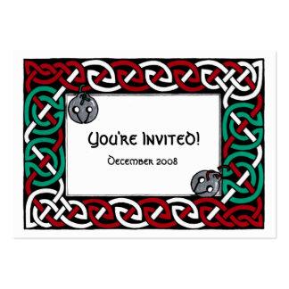 Invitación del fiesta de Tintinnabulum Plantilla De Tarjeta Personal