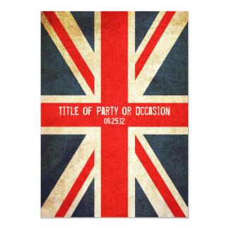 Invitación del fiesta de Union Jack del