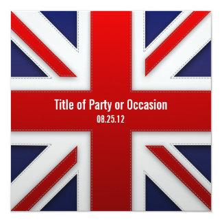 Invitación del fiesta de Union Jack/invitación