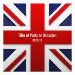 Invitación del fiesta de Union Jack/invitación BRI