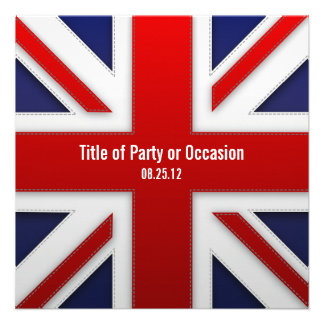 Invitación del fiesta de Union Jack invitación BRI