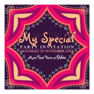 Invitación del fiesta del acontecimiento especial invitación 13,3 cm x 13,3cm