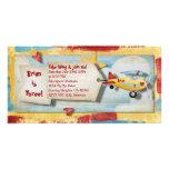 Invitación del fiesta del aeroplano tarjetas fotograficas