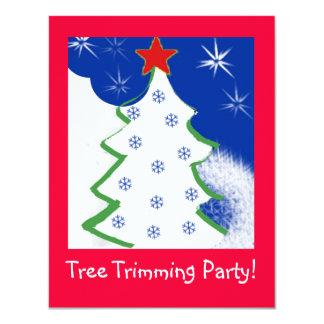 Invitación del fiesta del ajuste del árbol