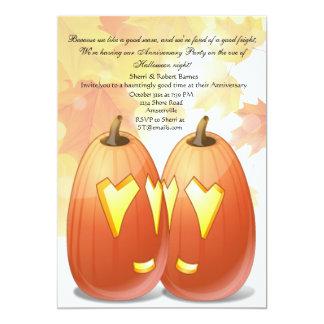 Invitación del fiesta del amor de Halloween