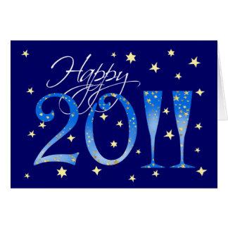 Invitación del fiesta del Año Nuevo 2011 Tarjeta De Felicitación
