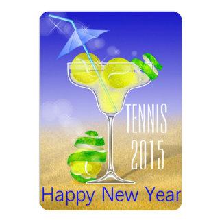 Invitación del fiesta del Año Nuevo del tenis