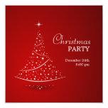 Invitación del fiesta del árbol de navidad